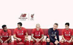 2015-16 New Balance Liverpool FC Home Kit Wallpaper free desktop ...