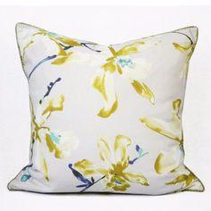 Yellow Flower Printing Pillow