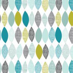 Échantillonneur de printemps en bleu, forme du printemps, Eloise Renouf, 1/2 yard, Cloud 9 tissus