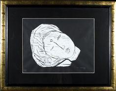 Ina Colliander, puupiirros, 40x34 cm, edition 80/99 - HagelstamA126 Finland, Female, Artist, Amen, Artists