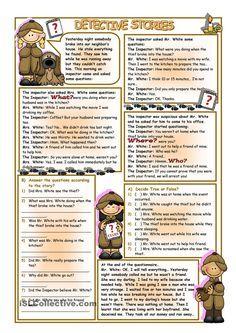 Detective Stories worksheet - Free ESL printable worksheets made by teachers