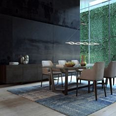 This particular photo is honestly an impressive style procedure. Table Led, Dining Table, Beautiful Dining Rooms, Dining Room Lighting, Design Moderne, Living Spaces, Wall Lights, Interior Design