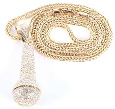 Gold Iced Out Microphone Pendant with a 36 Inch Franco Chain Necklace JOTW, http://www.amazon.com/dp/B0073WQOE4/ref=cm_sw_r_pi_dp_ViF6qb0A4S4D0