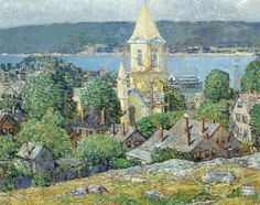 The Athenaeum - Church at East Gloucester (Frederick Childe Hassam - )