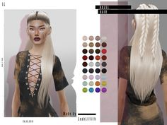The Sims 4 LeahLillith Hazel Hair Sims New, The Sims 4 Pc, Best Sims, Sims Four, Sims 4 Game Mods, Sims 4 Mods, Sims 4 Download Free, Free Downloads, Tumblr Sims 4