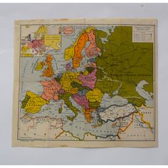 Europe 1920s Map