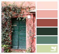32 Trendy Home Color Schemes Green Design Seeds Scheme Color, Colour Pallette, Color Palate, Color Combos, Bedroom Colour Schemes Warm, House Color Schemes, House Colors, Bedroom Colors, Design Seeds