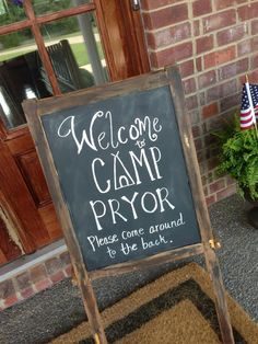 camp welcome sign crafty southern mama