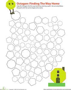 Kindergarten Nutrition Worksheets Excel Shapes Pentagon Hexagon Heptagon Octagon Nonagon Decagon    Bill Nye Phases Of Matter Worksheet with Worksheet For Letter B Pdf Identifying Octagons Geometry Worksheetsthird Grademathematics In This  Grade Geometry Worksheet  Multiplying Binomials And Trinomials Worksheet Excel