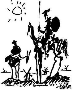 Don Quixote. The analysis of Pablo Picasso's Original Sketch, Print. http://cubismsite.com/don-quixote-pablo-picasso/