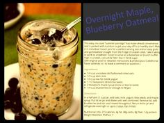Overnight oatmeal!  Super easy and yummy!  www.fitnessfoodiesite.com, #cleaneating #easyhealthy