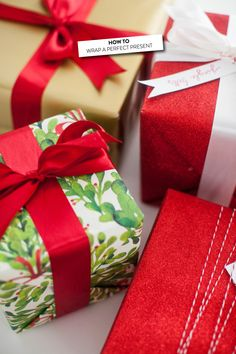How to Wrap a Perfect Present  Read more - http://www.stylemepretty.com/living/2013/12/23/how-to-wrap-a-perfect-present/