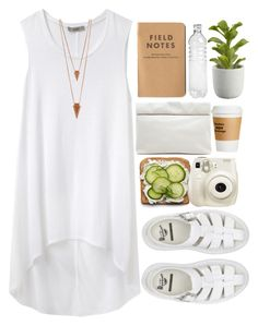 """""""Untitled #232"""" by amy-lopezx ❤ liked on Polyvore featuring Dr. Martens, Marie Turnor, Helmut by Helmut Lang, Jules Smith, Crate and Barrel and Fujifilm"""