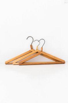 vintage wooden hangers clothes hangers coat hangers wood hangers set of 3 by on