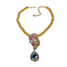 "Heidi Daus ""Carpe Diem"" Beaded Crystal Drop Necklace"