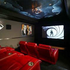 Your basement has everything you need to make an ideal home theater. Basements provide quiet surroundings and little natural light, both ideal settings to watch movies.
