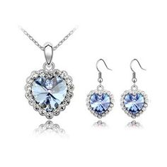 Austrian Crystal Set - Love life ( Light Blue ) 4629