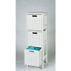Living Shaker Style 3 Drawer Bathroom Storage Unit White From Homebase Co