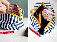 Makeup bag DIY - Would make a great bridesmaid gift