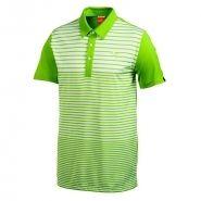Puma Yarn Dye Stripe Mens Golf Shirt Lime Green