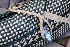 SK026 - Clutch Purse Kete - Black/Natural - MAORI > Maori gifts, Maori Clothing & Maori Jewellery online @ ITI GIFTS
