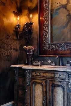 Old World, Gothic, and Victorian Interior Design.