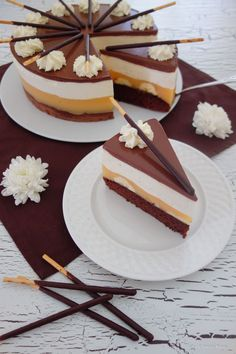 Mikado-Kuchen - New Site Baking Recipes, Cake Recipes, Dessert Recipes, Pie Cake, No Bake Cake, Torte Cake, Sweet Desserts, Sweet Recipes, Food Cakes