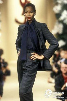 Find out more on Europeana Fashion History, 90s Fashion, Fashion Models, Vintage Fashion, Fashion Sets, Fashion Black, Saint Laurent Paris, Christian Dior, Black Supermodels