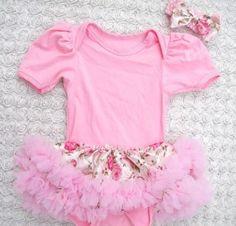 Newborn Pink Tutu Dress-Baby Pink Tutu Casual Dress | sariasknitncrochet - Accessories on ArtFire
