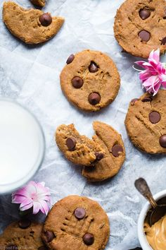 Peanut Butter Chickpea Chocolate Chip Cookies - These kid-friendly, vegan cookies are SO soft and chewy! You would never believe they are healthy and gluten/grain/dairy/egg AND refined sugar free! | Foodfaithfitness.com | @FoodFaithFit