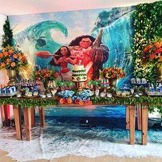 Check the floor out Moana Theme Birthday, Moana Themed Party, Moana Party, Birthday Parties, Birthday Ideas, Aloha Party, Luau Party, Art Party, Party Kit