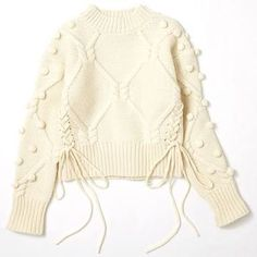 Lesson of the Week: Knit is the leading role warm Coe (Lumine Shinjuku) Knitting Designs, Knitting Patterns, Hand Knitting, Sewing Patterns, Knitwear Fashion, Knit Fashion, Fashion Fashion, Crochet Bikini, Knit Crochet