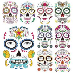?10 pcs? Halloween Face Temporary Tattoos for Women Kids Men? Rave Accessories Temporary Tattoos Paper Face Tattoos for Adults, Mens Womens Costumes Halloween Adults. Halloween Makeup for Party Decor * You can find more details by visiting the image link. (As an Amazon Associate I earn from qualifying purchases) Halloween Masquerade, Halloween Skull, Halloween Makeup, Halloween Costumes, Temporary Face Tattoos, Temporary Tattoo Paper, Rave Accessories, Skull Face, Body Makeup