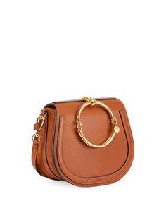 CHLOÉ Nile Medium Bracelet Crossbody Bag. #chloé #bags #shoulder bags #hand bags #lining #crossbody #suede #