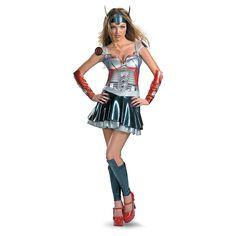 Optimus Prime Adult Women's Costume - OrientalTrading.com