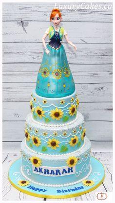 Frozen fever Anna cake