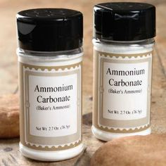 Baker's Ammonia (ammonium carbonate) makes extra-crisp cookies or crackers. 2.7-ounce container.