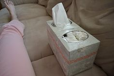 Tissues and Trash // When you're sick, use an empty box for used tissues