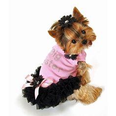 Angelina Ruffled Dog Dress