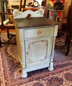 A beautiful cabinet painted by a customer who had NEVER used Chalk Paint® decorative paint by Annie Sloan before | Chalk Paint® stockist Janet Metzger of The Empty Nest in VA.
