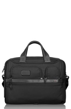 Men's Tumi 'Alpha 2' Expandable Laptop Briefcase - Black