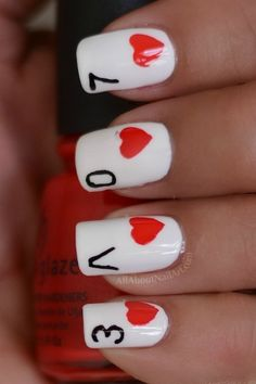 Valentines Love Nail Art