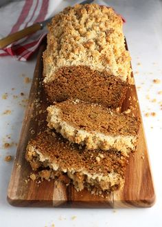 Pumpkin Zucchini Loaf with Streusel Topping
