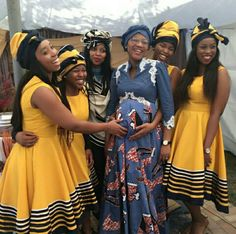 Traditional Xhosa Wedding In south african - Fashionre Xhosa Attire, African Attire, African Wear, African Women, African Print Skirt, African Print Dresses, African Fashion Dresses, African Fabric, African Traditional Dresses
