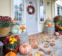LOVE this: centsational girl fall porch