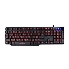 Masione Multi-Color Multimedia USB Wired Gaming Keyboard with LED Illumination and Backlighting