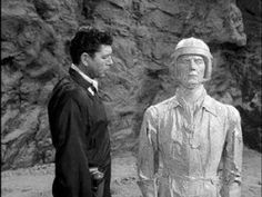 Season 3, Episode 28: The Little People. First aired on March 30, 1962, starring Joe Maross, Claude Akins, Michael Ford and Robert Eaton. Directed by William Claxton, teleplay by Rod Serling. A spaceman finds tiny inhabitants on a planet and forces them to recognize him as a god.