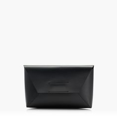J.Crew Gift Guide: women's leather envelope clutch.