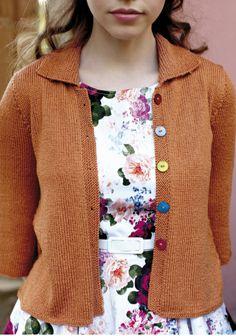 Neulottu jakku, SK 4/2014. Rowan Yarn, Lady Stockings, Stockinette, Mulberry Silk, Garter Stitch, Peridot, Spring Summer Fashion, Knitting Patterns, Sweater Cardigan