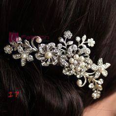 BRIDAL WEDDING CRYSTAL PEARL RHINESTONES DIAMANTE HAIR COMB CLIP SLIDE eBay
